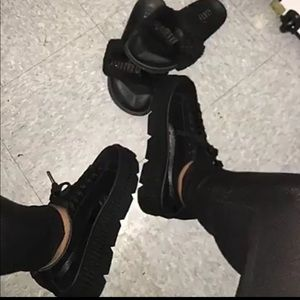 Womens Rihanna x Puma Fenty Cleated Creeper -Black